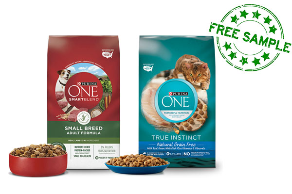 Free Bag of Purina ONE Cat or Dog Food