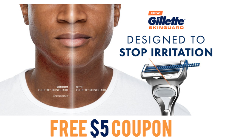 FREE $5 Off on Gillette SkinGuard