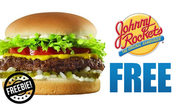 Johnny Rockets Coupon: Free Burger w/ Purchase