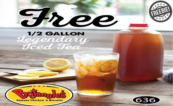 Bojangles Coupon: Free 1/2 Gallon of Tea