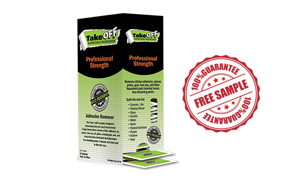 Take Off Adhesive Remover: Free Samples