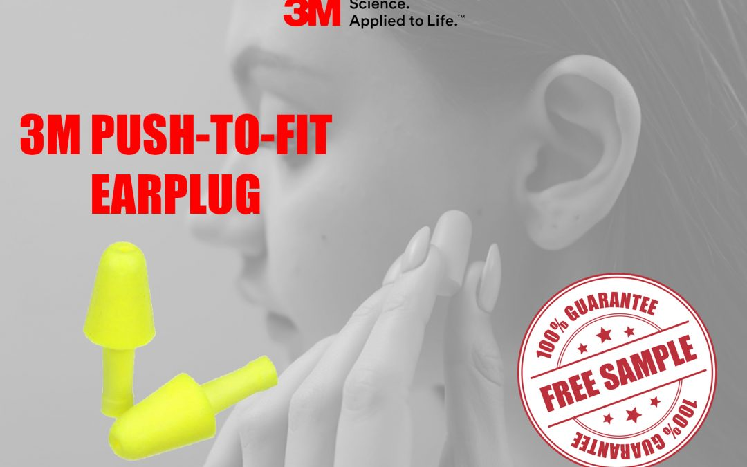 3M PUSH-TO-FIT EARPLUG FREE SAMPLE