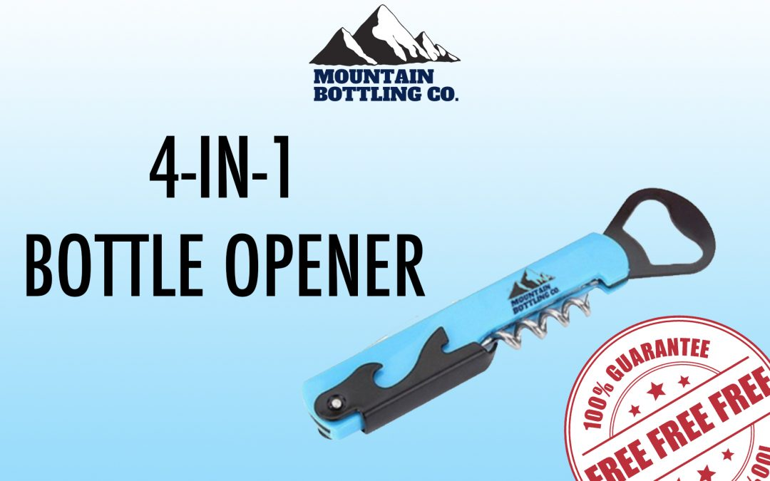 FREE 4-IN-1 BOTTLE OPENER FROM MOUNTAIN BOTTLING CO.