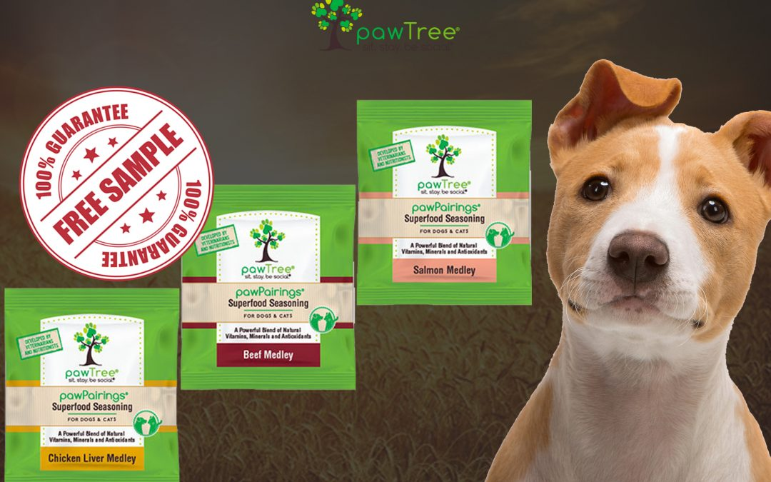 FREE SAMPLE OF PAWTREE SUPERFOOD SEASONING FOR PETS