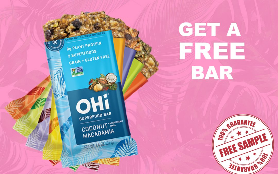OHI SUPERFOOD BAR FREE SAMPLE