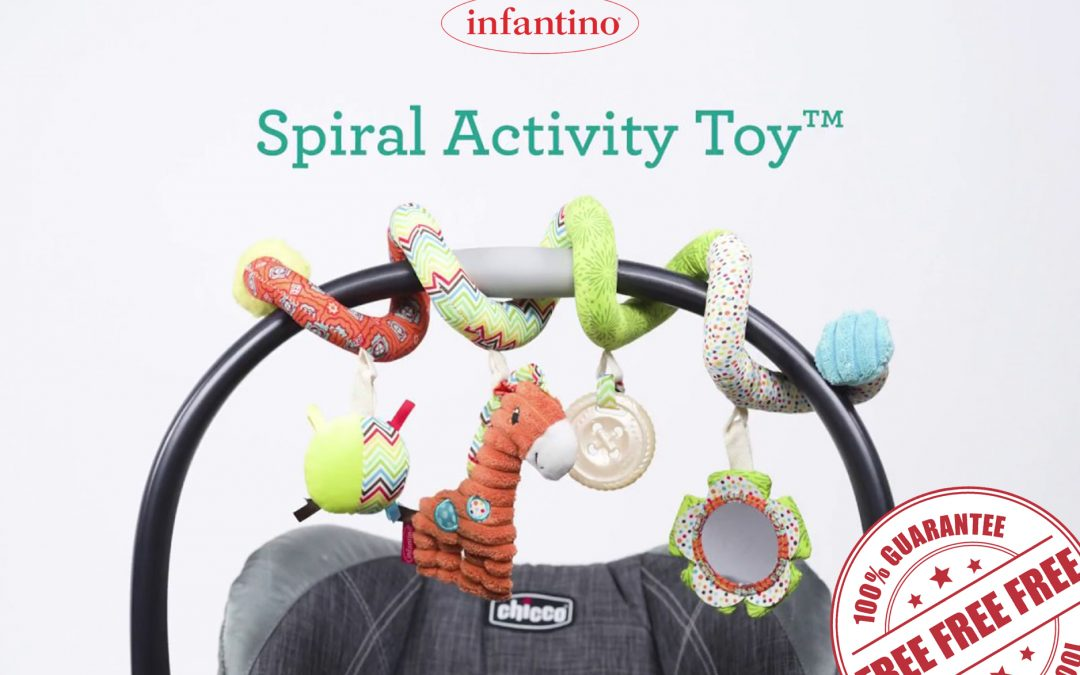 FREE INFANTINO SPIRAL & STRETCH ACTIVITY TOY