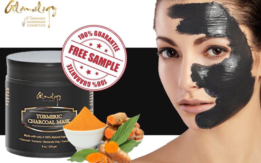 FREE SAMPLE OF TURMERIC CHARCOAL MASK FROM GLAMOLOGY