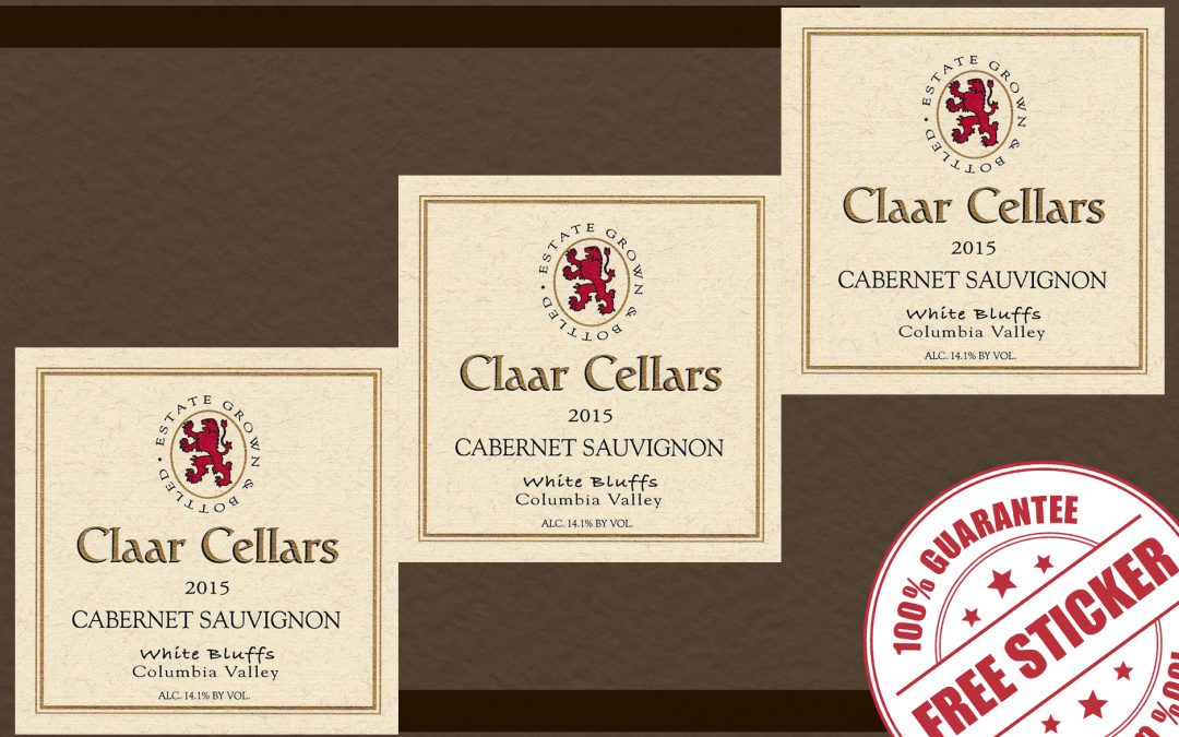 FREE CLAAR CELLARS STICKER LABELS