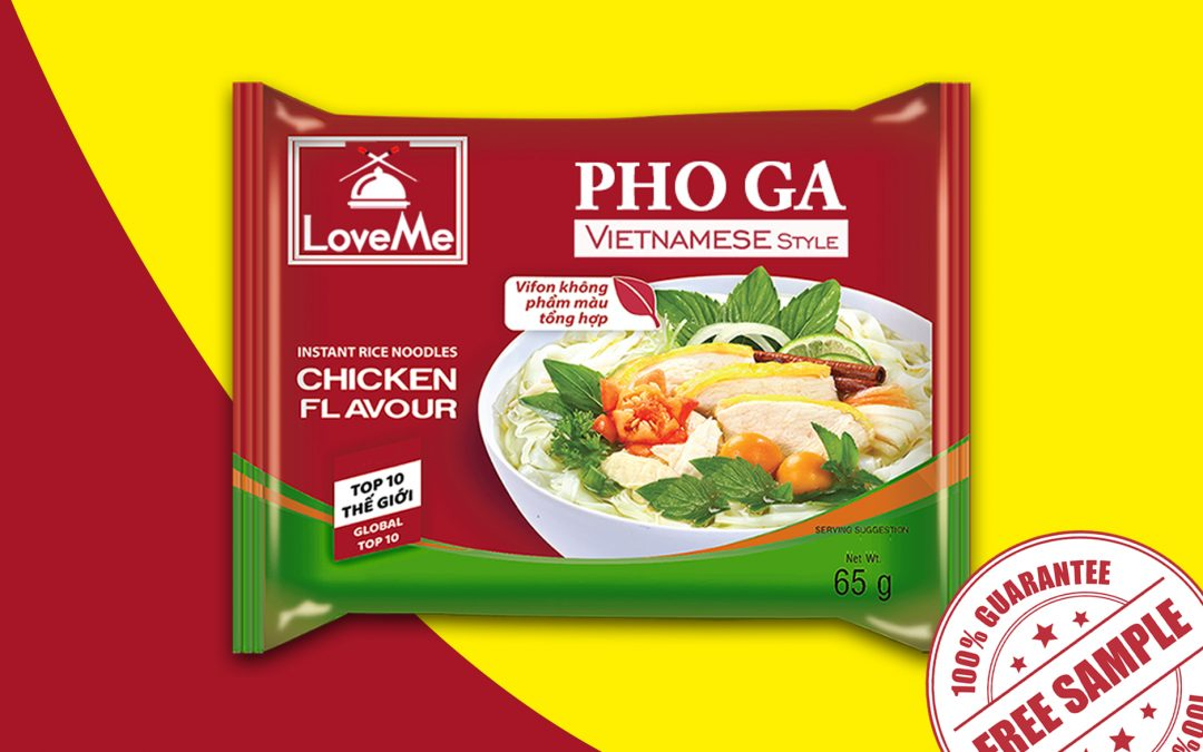 FREE SAMPLE OF LOVEME PHO GA INSTANT RICE NOODLES