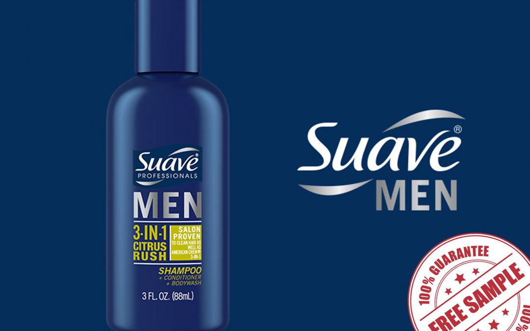 FREE SAMPLE OF SUAVE MEN 3-IN-1 CITRUS RUSH SHAMPOO