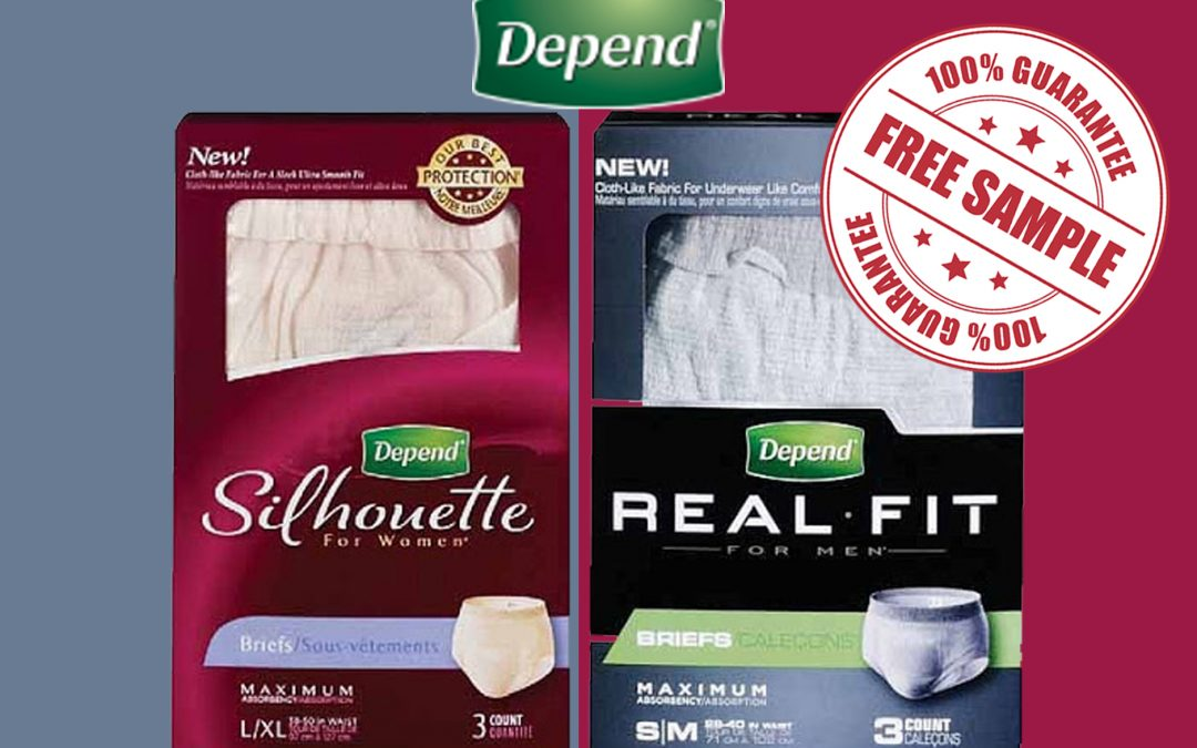 FREE SAMPLE OF DEPEND SILHOUETTE  AND REAL FIT UNDERWEAR