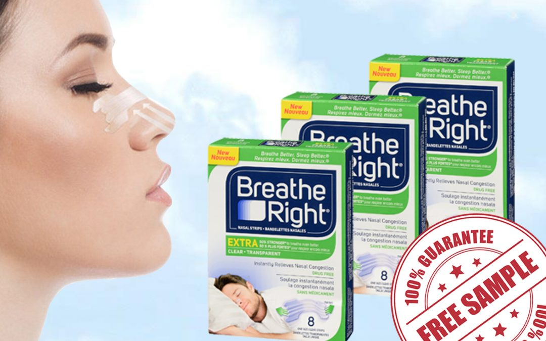 FREE SAMPLE OF BREATH RIGHT EXTRA CLEAR NASAL STRIPS