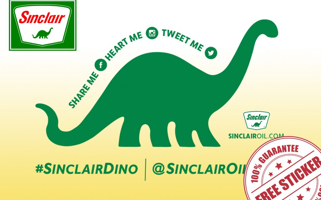 FREE DINO STICKERS FROM SINCLAIR OIL CORP.