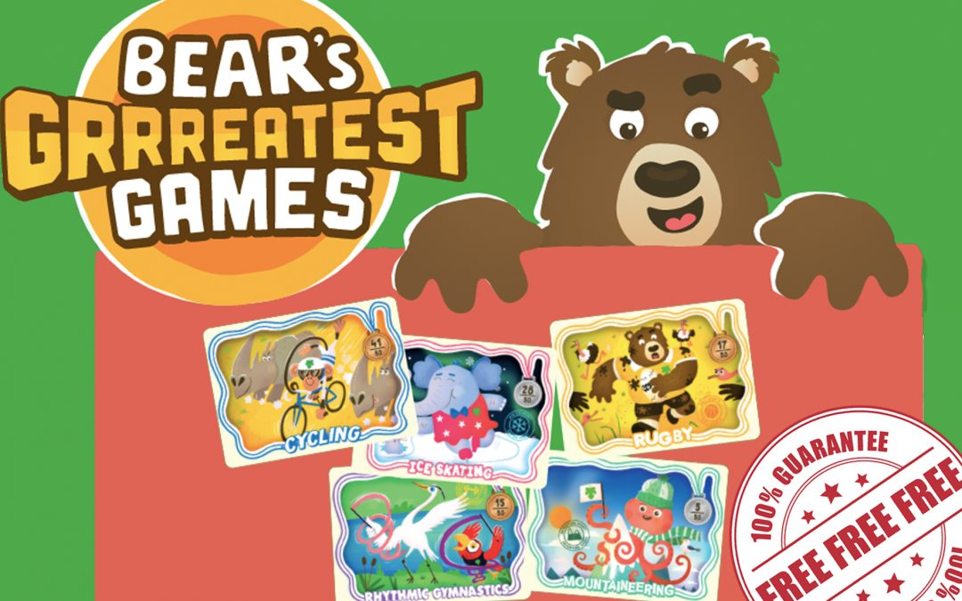 FREE GRRREATEST GAME CARD KEEPER AND STICKERS FROM BEAR