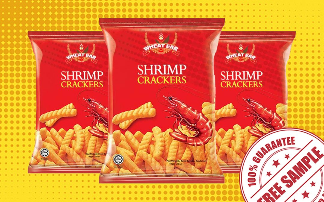 FREE SAMPLE OF WHEAT EAR SHRIMP CRACKERS