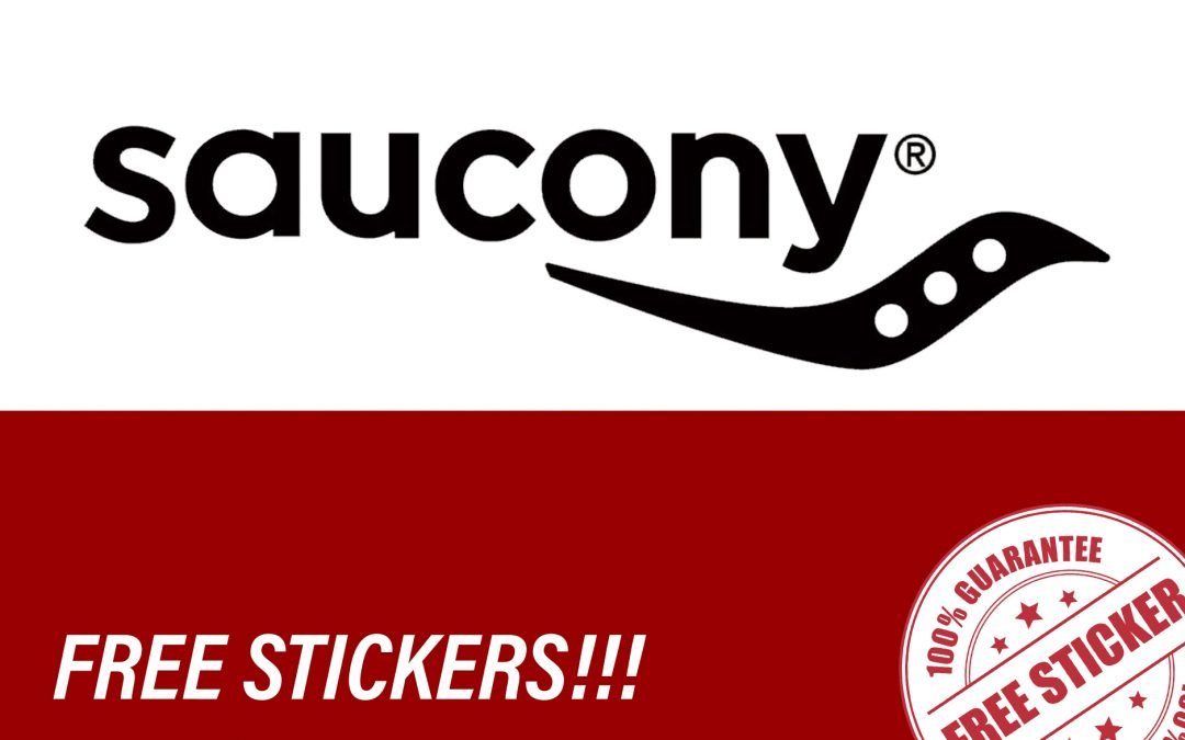 FREE STICKERS FROM SAUCONY