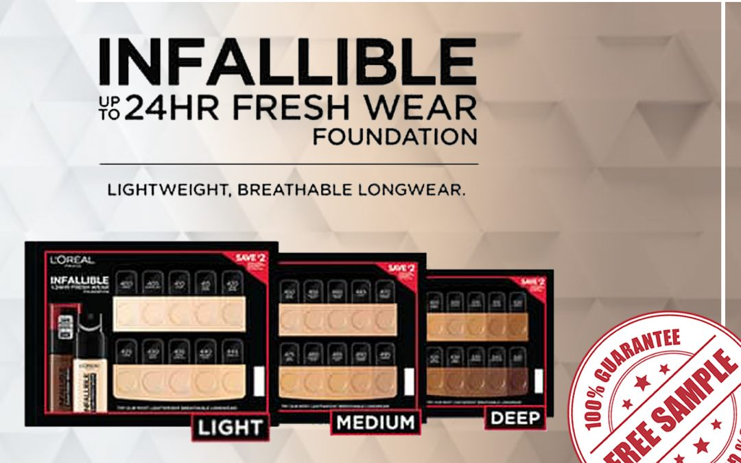 FREE SAMPLE OF L'OREAL INFALLIBLE FRESH WEAR