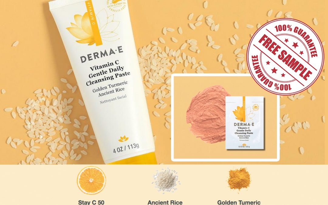 FREE SAMPLE OF DERMA-E VITAMIN C CLEANSING PASTE
