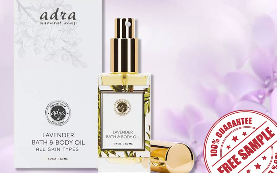 FREE SAMPLE OF ADRA LAVENDER BATH AND BODY OIL