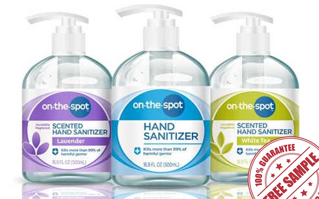 FREE SAMPLE OF ON-THE-SPOT HAND SANITIZER